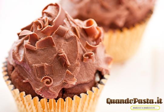 muffin con crema cioccolato