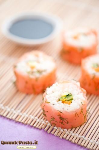 Sushi in casa salmone verdure
