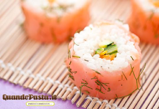 Sushi in casa salmone