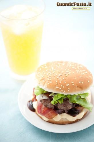 crispy bacon hamburger