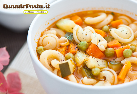 minestrone con pasta
