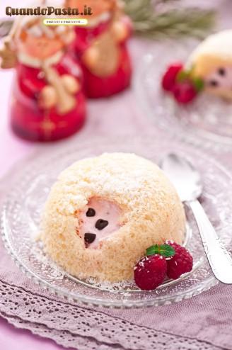 zuccotto di pandoro e fragole