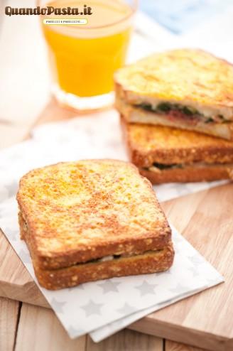 french toast ripieno al forno