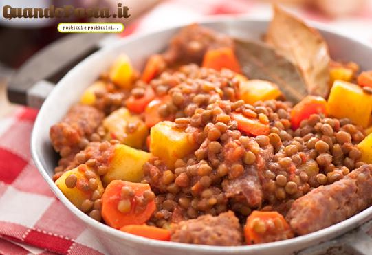 salsiccia e lenticchie