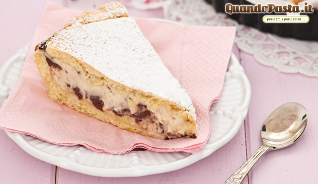 crostata di ricotta e cioccolato