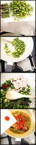 linguine asparagi e gamberetti
