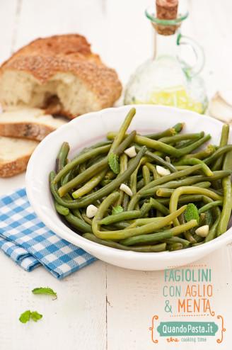 Fagiolini con aglio e menta