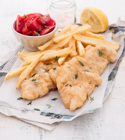 Fish and chips mediterraneo