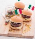 hamburger di chianina con salsa chimichurri