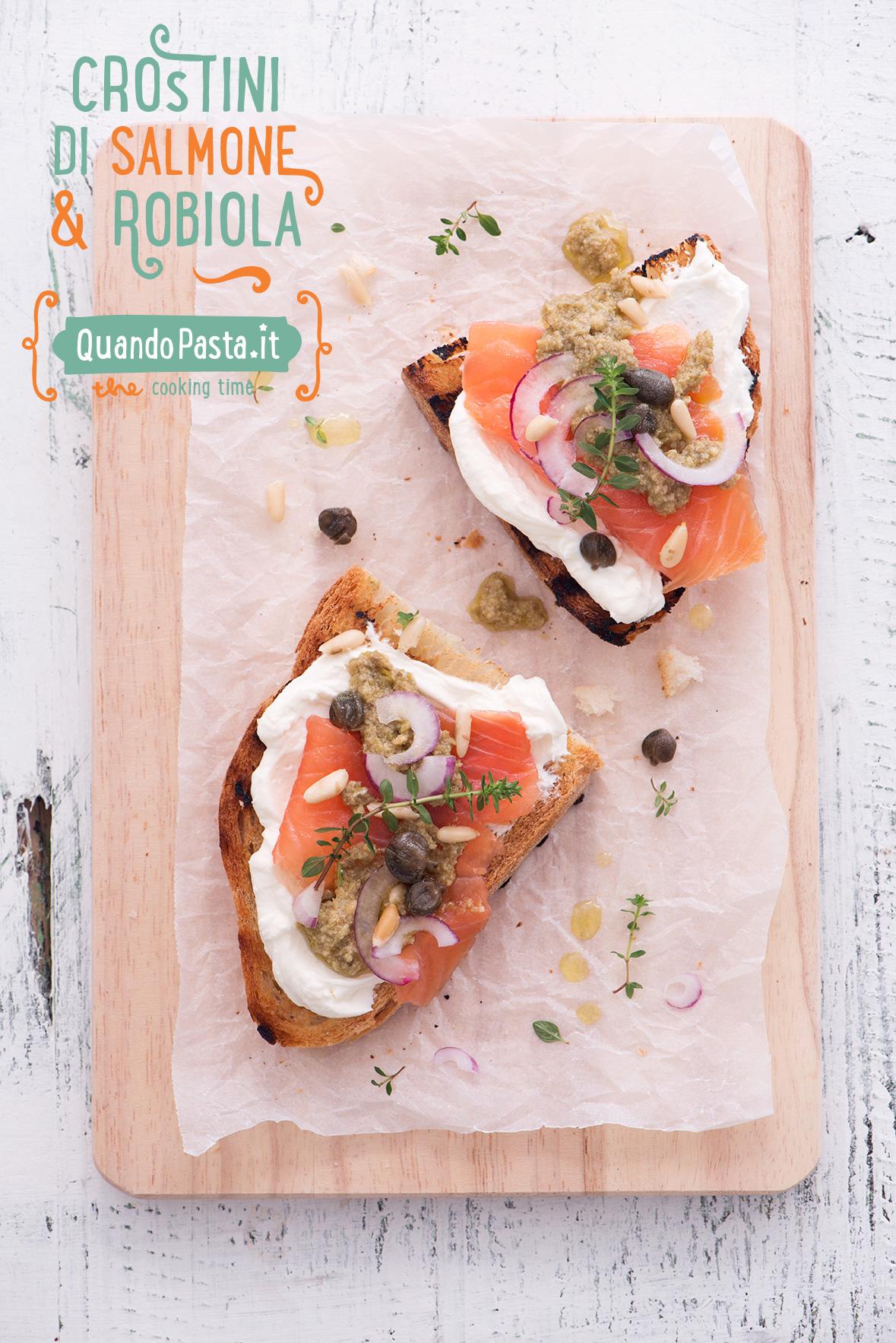 Ricetta pasta salmone e robiola