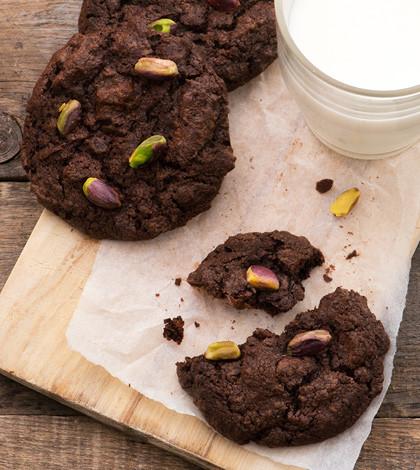 Cookie doppio cioccolato e pistacchio
